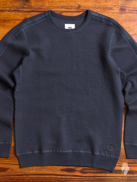 Cabin Fleece Crewneck Sweater in Night Grey