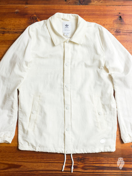 Linen Coaches Jacket in Off White