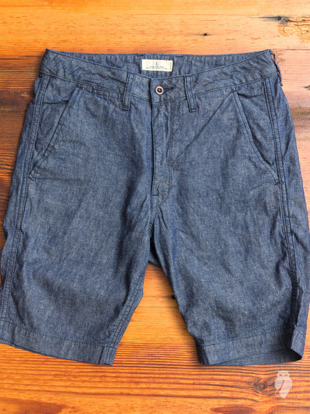 JB5500 Linen Shorts in Chambray