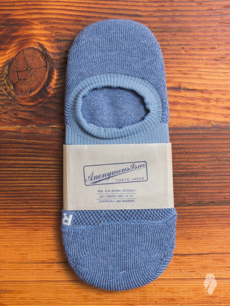 Compression No-Show Sock in Light Blue