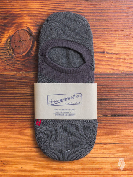 Compression No-Show Sock in Charcoal