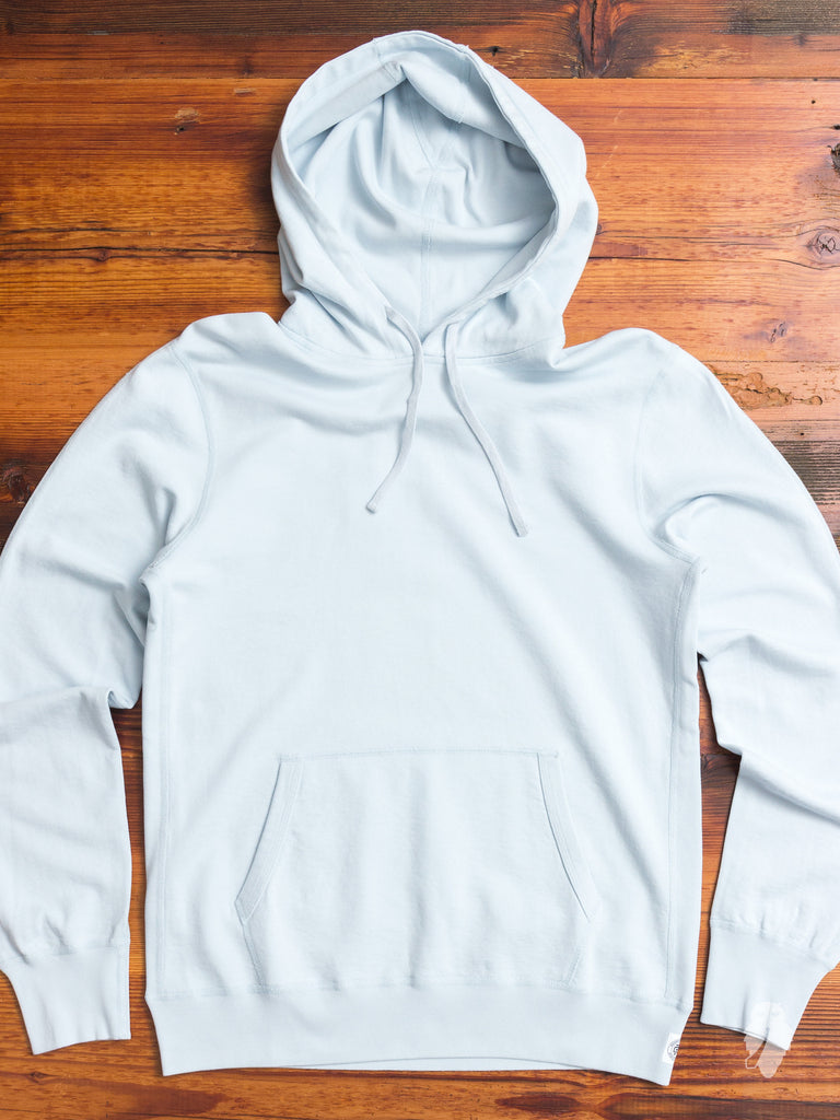 Lightweight Terry Pullover Hoodie in Sky Blue