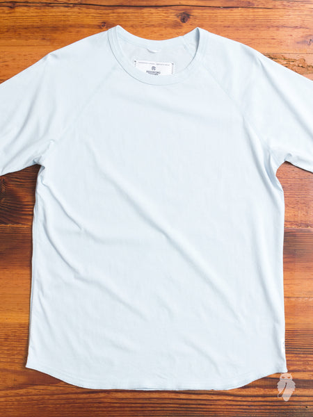 Raglan Sleeve Crew in Sky Blue