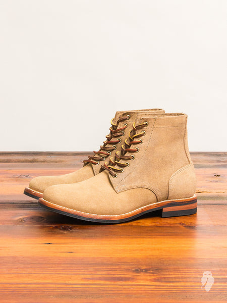 """Dainite Trench Boot"" in Natural Rough-Out"