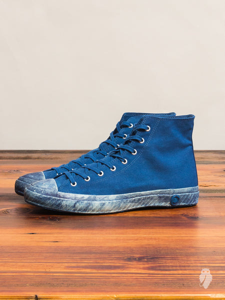 01JPB High Top Sneaker in Natural Indigo Overdye
