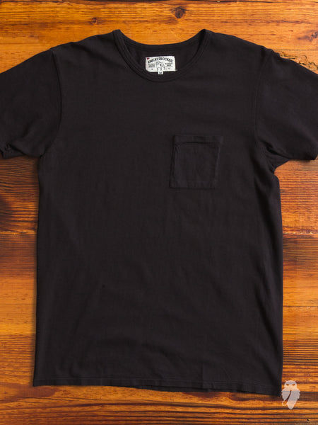 Tube Knit Pocket T-Shirt in Black