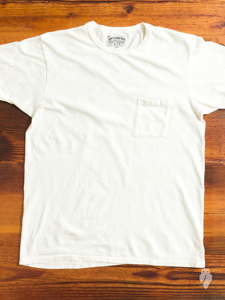 Tube Knit Pocket T-Shirt in White