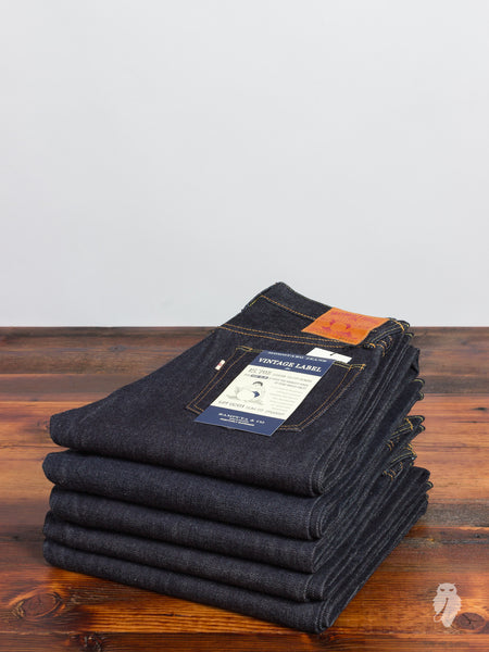 "0201 ""Vintage Label"" 15.7oz Unsanforized Selvedge Denim - Slim Straight Fit"