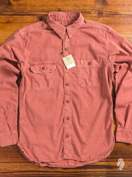 MS033B 5oz Selvedge Chambray in Red Oxide