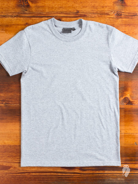 """Circular-Knit"" 10oz T-Shirt in Heather Grey"