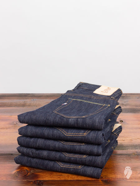 "AI-003 ""Natural Indigo"" 18oz Unsanforized Selvedge Denim - Slim Tapered Fit"
