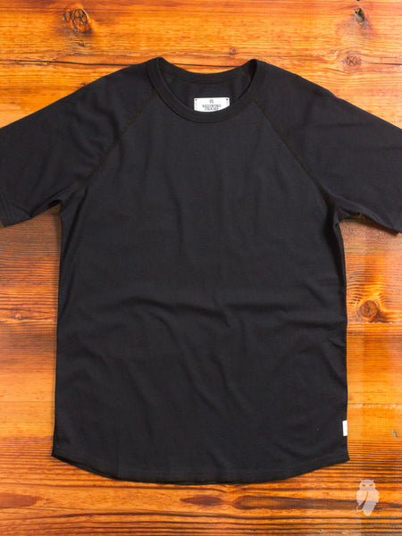 Raglan Sleeve T-Shirt in Black