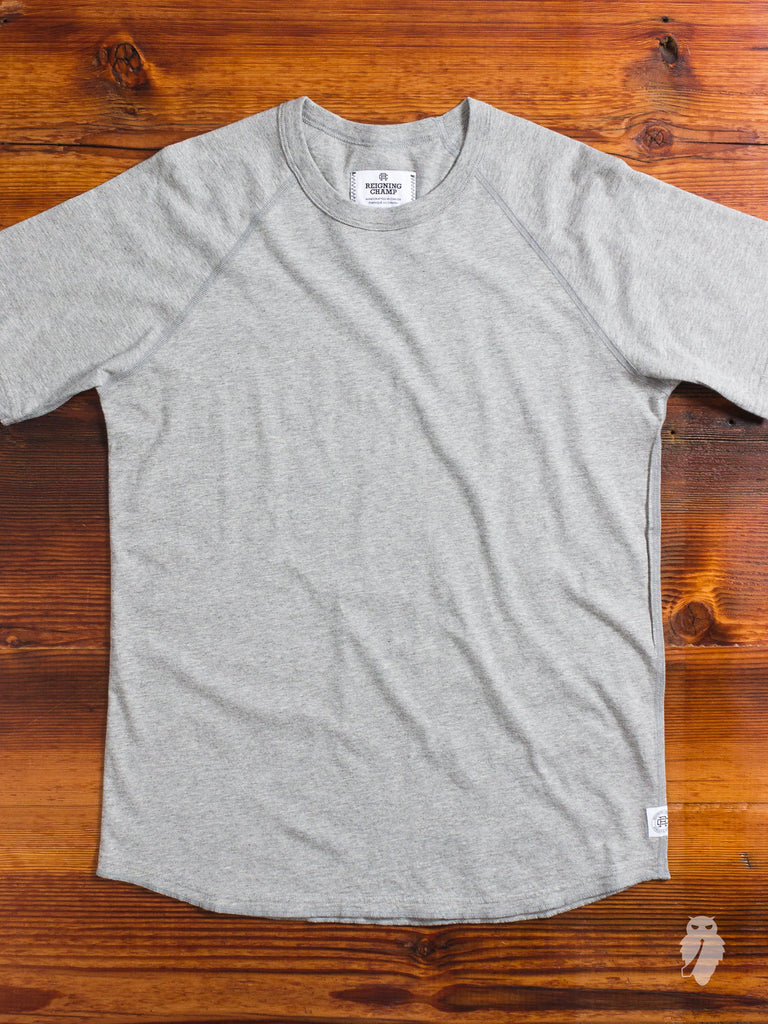 Raglan Sleeve T-Shirt in Heather Grey