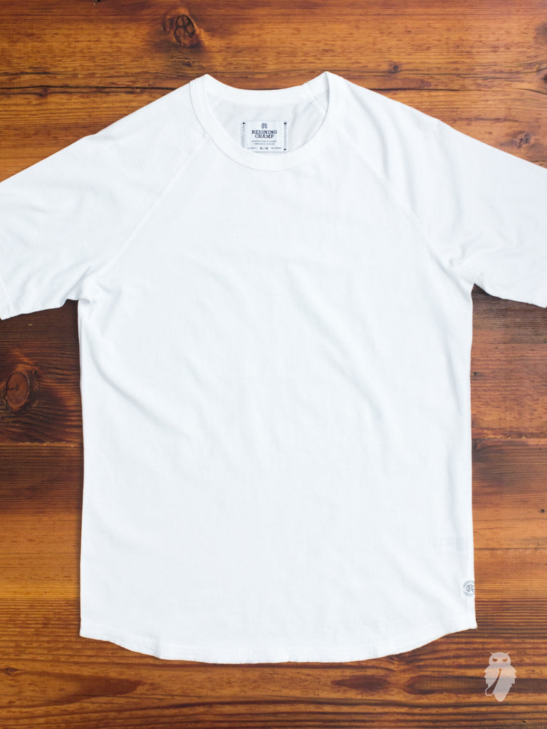Raglan Sleeve T-Shirt in White