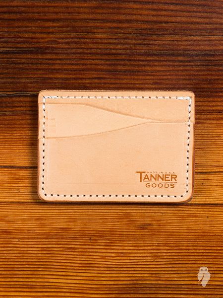 """Journeyman"" Leather Card Wallet in Natural"