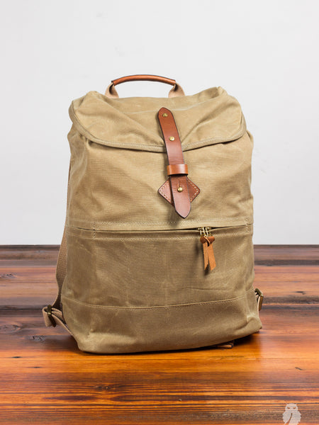 """Voyager Daypack"" in Waxed Field Tan"