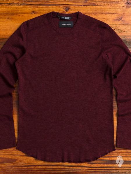 1x1 Long Sleeve Crew in Oxblood