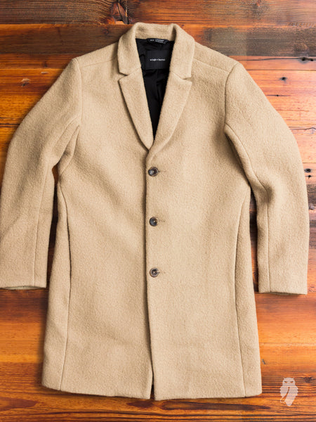 Sherpa Wool Topcoat in Straw