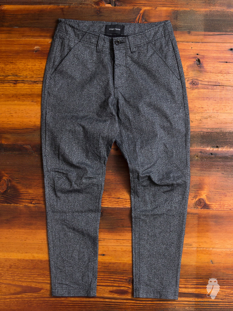 Static Twill BDU Pants in Marled Black