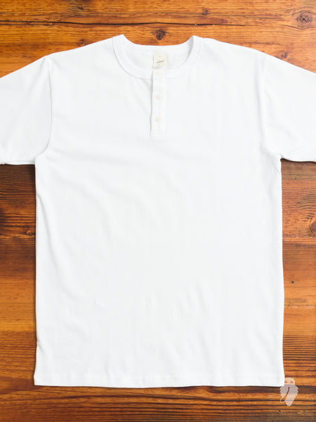 Heavyweight Henley in White