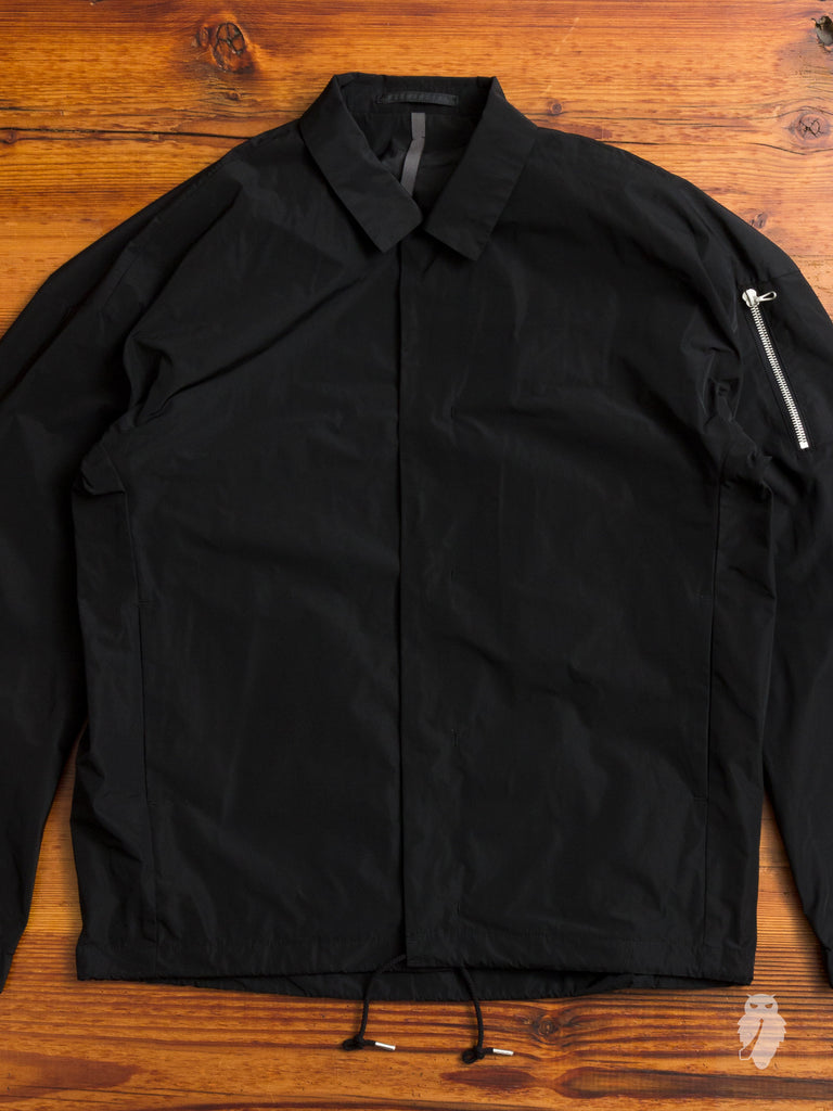 Taffeta Coaches Jacket in Black