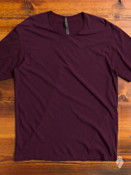 Relaxed Cut T-Shirt in Bordeaux