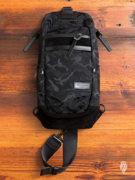 Density Shoulder Bag in Black Camouflage