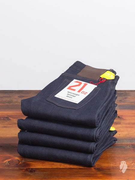 UB421 Heavyweight 21oz Selvedge Denim - Tight Fit