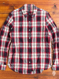 Distressed Button Down Shirt in Red Plaid