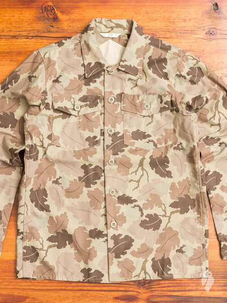 Fatigue Overshirt in Tan Camouflage