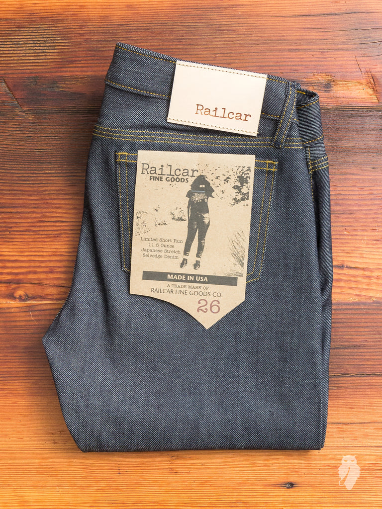 X041 11.5oz Women's Stretch Selvedge Denim - Vixen Fit