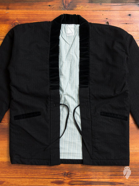 Hanten Haori Jacket in Wool Stripe