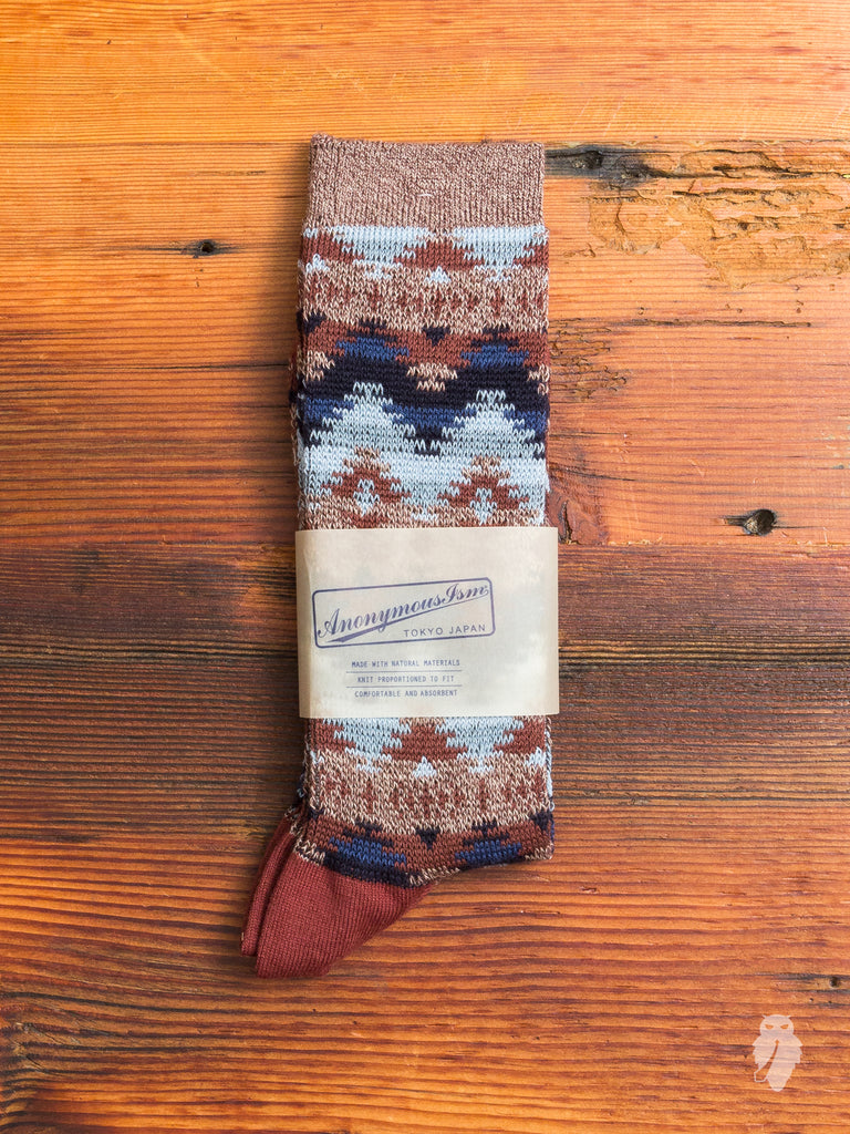 Apache Crew Sock in Brown