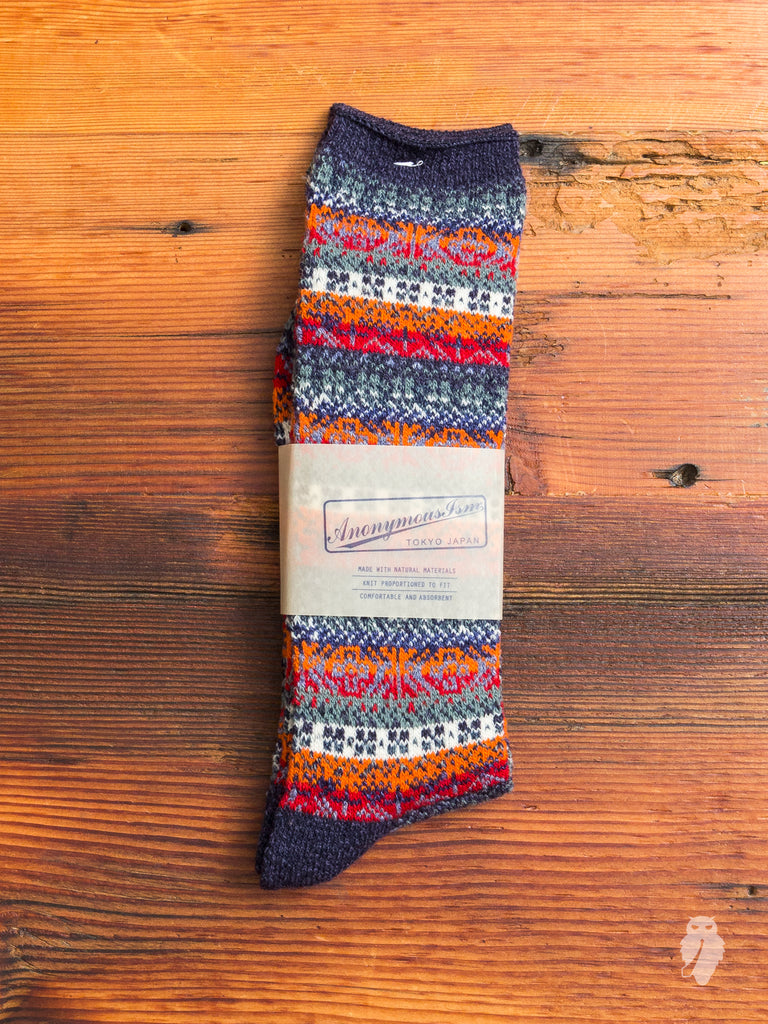 Gradient Crew Sock in Navy