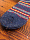 Blanket Stripe Crew Sock in Navy