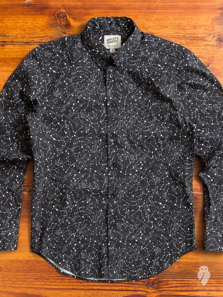 """Constellations"" Button Down Shirt in Black"
