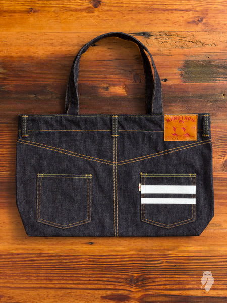 """Going to Battle"" Denim Tote"