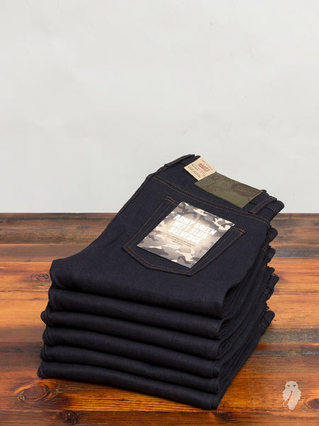 """Army Green Slub Stretch"" 12.5oz Selvedge Denim - Weird Guy Fit"