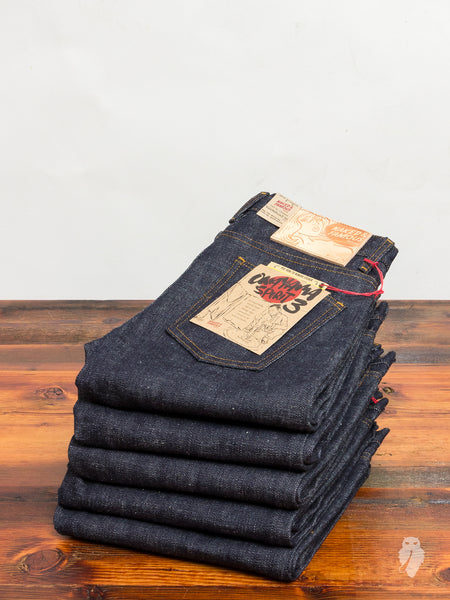 """Okayama Spirit 3"" 18oz Unsanforized Selvedge Denim - Super Skinny Guy Fit"