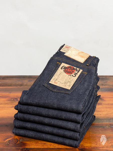 """Okayama Spirit 3"" 18oz Unsanforized Selvedge Denim - Weird Guy Fit"