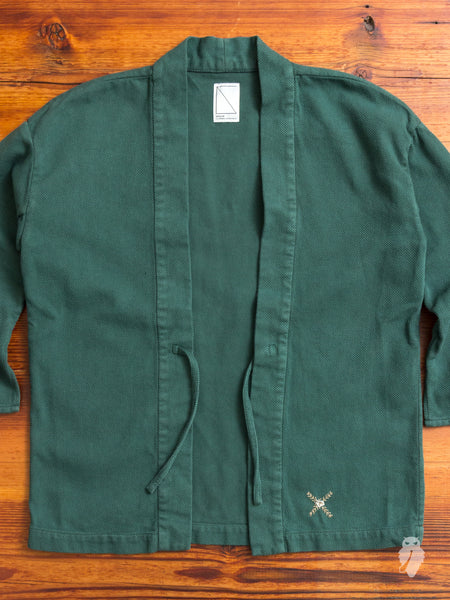 Haori Sashiko Shirt in Green