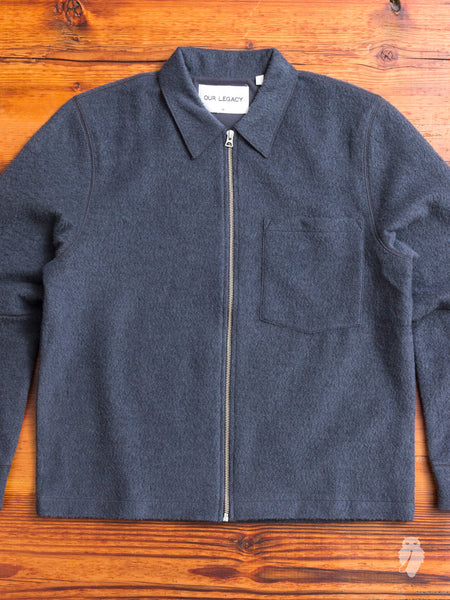 Raw Edge Blouson in Graphite