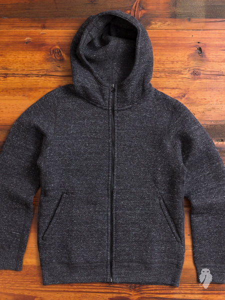 Cabin Fleece Zip Hoodie in Charcoal
