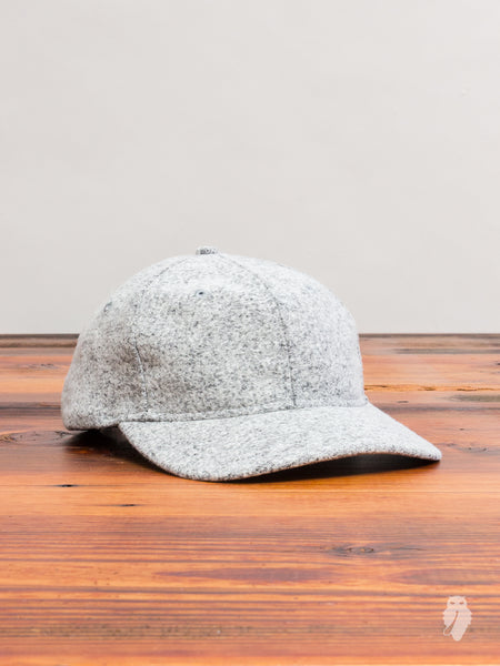 Knit Wool 6-Panel Hat in Marled Grey