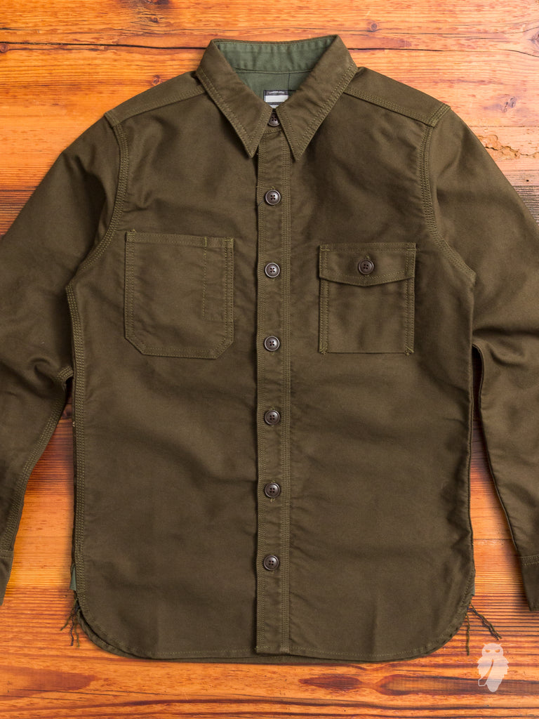 05-144 Moleskin Work Shirt in Olive