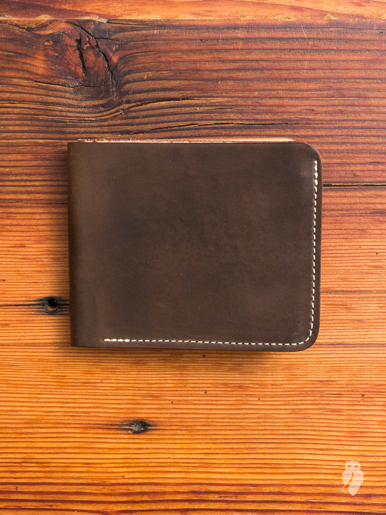 Shell Cordovan Bifold Wallet in Brown