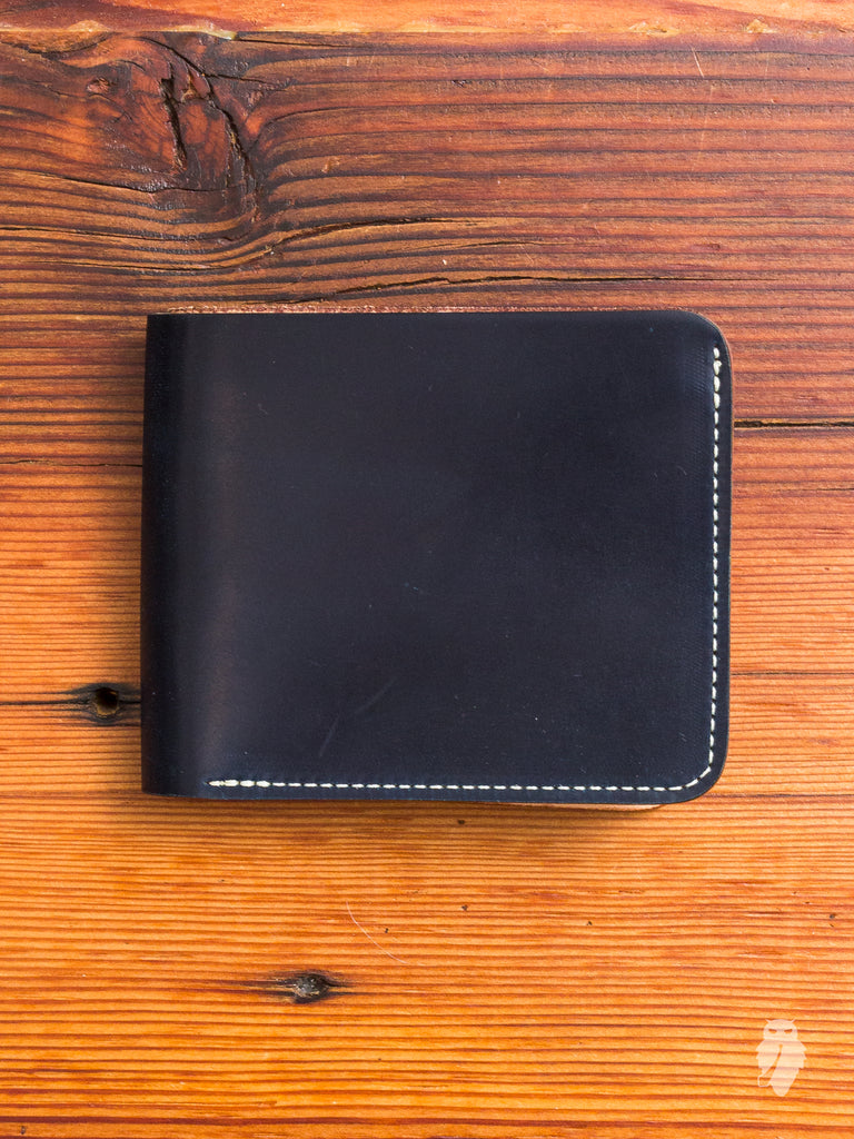 Shell Cordovan Bifold Wallet in Navy