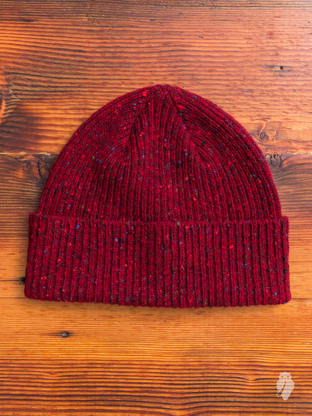 """Out of the Blue"" Wool Beanie in Fire"