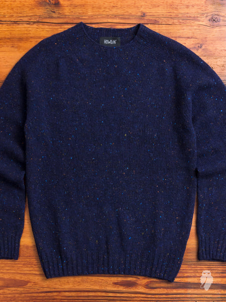 """Terry"" Wool Sweater in Navy"