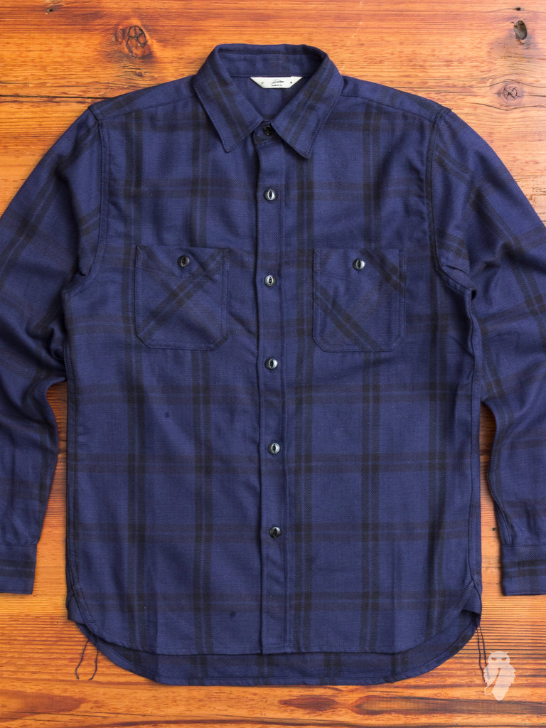 Utility Shirt in Navy Plaid